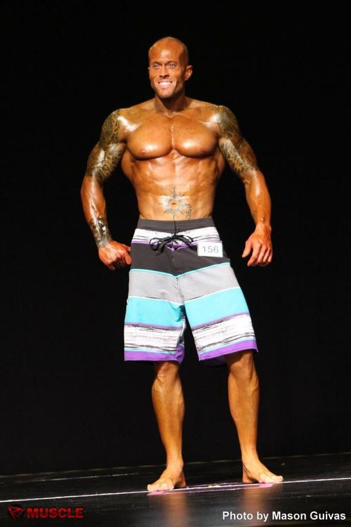 Sports Model John Quinlan 2012 Team Universe Men's Physique On Stage Rx Muscle