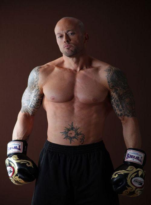 Model John Quinlan MMA Theme  Stock Photo