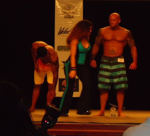 2012 NPC Rhode Island Physique Model John Quinlan Stage