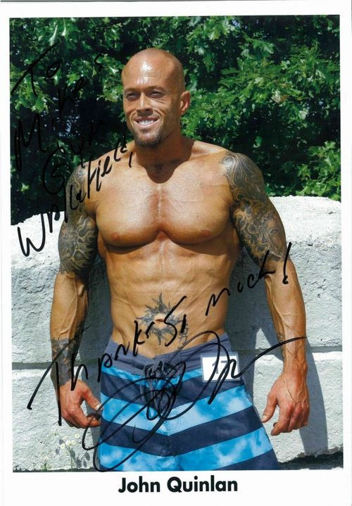 Tattooed Fitness & Sports Model John Quinlan Autograph - Mike's Gym Wakefield