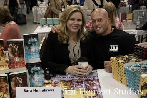 Romance Cover Model John Quinlan with Writer Sara Humphreys RT 2013