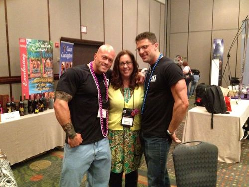 Tattooed Romance Cover Model John Quinlan with Rebecca Zanetti & Scott Nova