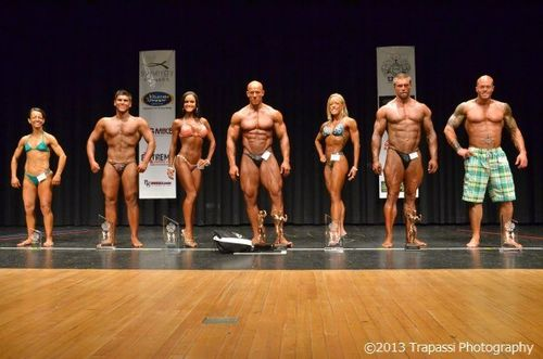 2013 NPC Vermont Men's Physique Model Champion John Quinlan & Overall Winners